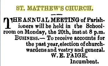 Notice of Annual General Meeting, 1891