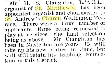 Claughton-organist-to-StAndrewsWgton-1912