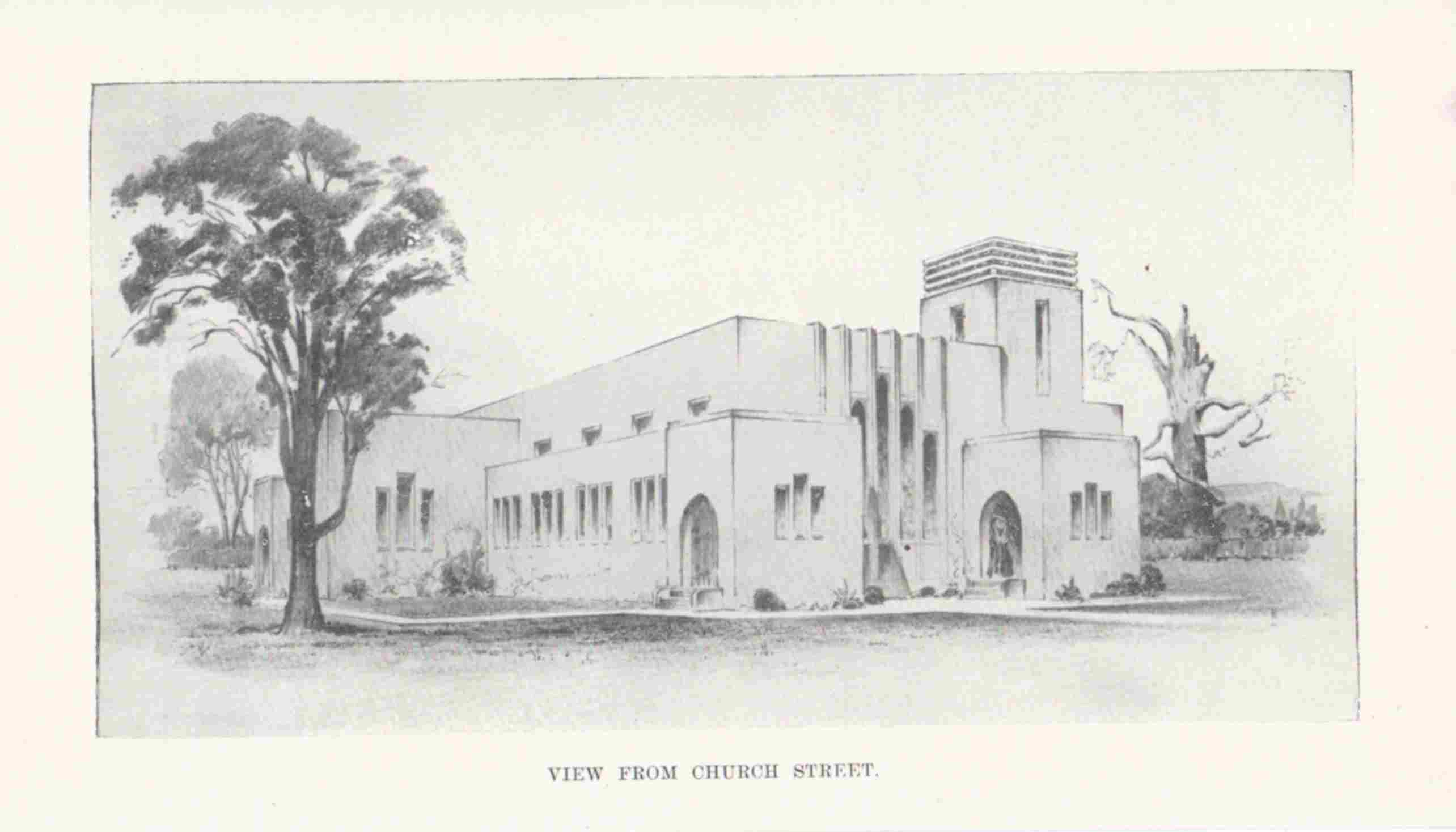 Architect's sketch of proposed new church